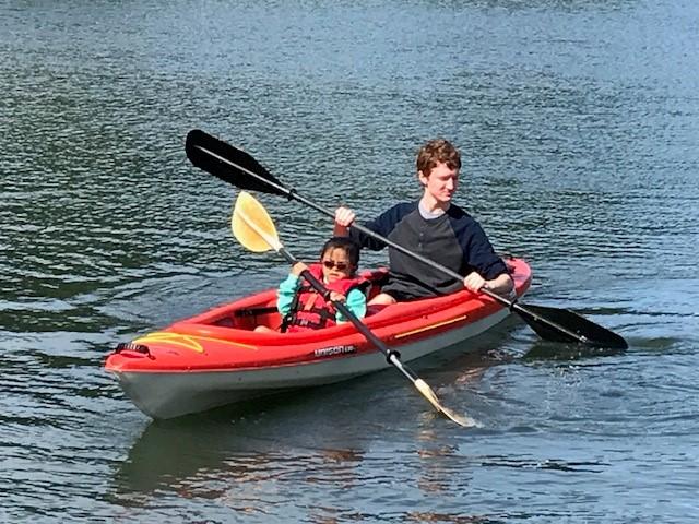 Ruby in kayak